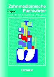 Zahnmedizinische Fachwörter, Lexikon für Ausbildung und Beruf - Cover