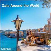 Cats Around the World 2022 - Wand-Kalender - Broschüren-Kalender - 30x30 - 30x60 geöffnet - Katzen-Kalender - Cover