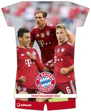 FC Bayern München 2022 - Trikotkalender - Wand-Kalender - Fan-Kalender - Fußball-Kalender - 34,1x42 - Sport - Cover