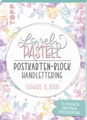 Lovely Pastell Handlettering Postkartenblock Flowers & Boho - Cover