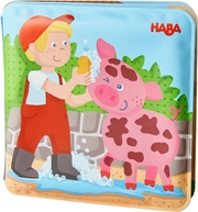 Badebuch Waschtag bei Schwein & Kuh - Cover