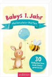 Babys 1. Jahr: Meilenstein-Karten. - Cover