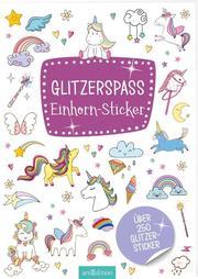 Glitzerspaß Einhorn-Sticker