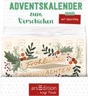 Display Adventskalender zum Verschicken (DIN A6) mit 24 Türchen