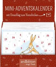Display Adventskalender zum Verschicken WDEWLIDH (DIN A6) mit 24 Türchen und Kuvert
