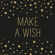Servietten 'Make a Wish black' - Cover