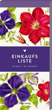 Einkaufsliste (Clematis Lila u. Pink, Hölker Küchenpapeterie)