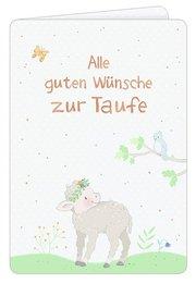 Grußkarte - Alle guten Wünsche zur Taufe - Cover