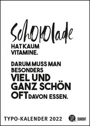 Sprüche-Kalender 2022 - Typo-Kalender von FUNI SMART ART - Poster-Format 50 x 70 cm - Cover