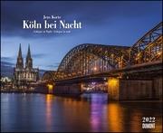 Köln bei Nacht 2022 - Wandkalender 52 x 42,5 cm - Spiralbindung