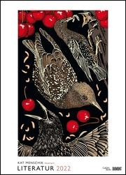Kat Menschik illustriert Literatur - Literarischer Posterkalender in Bildern 2022 - Wand-Kalender von DUMONT - Format 50 x 70 cm