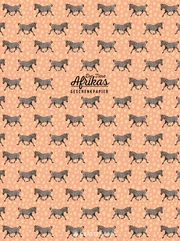 Tiere Afrikas Geschenkpapier-Heft Motiv Zebra