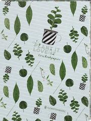 Plant it - Love it! Geschenkpapier-Heft Motiv Pflanzenkinder
