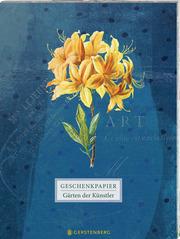 Die Gärten der Künstler Geschenkpapier-Heft Motiv Orchidee