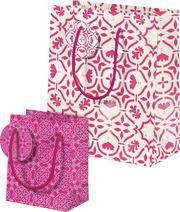 Der Zauber Indiens Geschenktüten-Set Motiv Rosa Kaleidoskop