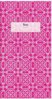 Der Zauber Indiens Schmales Notizheft Motiv Pinke Schneekristalle