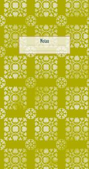 Der Zauber Indiens Schmales Notizheft Motiv Hellgrüne Blüten
