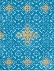 Der Zauber Indiens Großes Notizheft (A5) Motiv Blaues Ornament