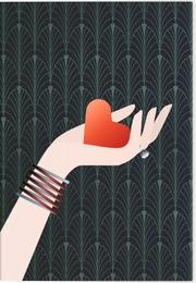 VE Die Macht der Liebe Klappkarte - Motiv Rotes Herz 5 Ex.