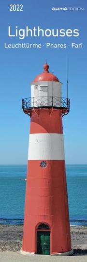 Leuchttürme 2022 - Lesezeichenkalender 5,5x16,5 cm - Lighthouses - Lesehilfe - Alpha Edition - Cover