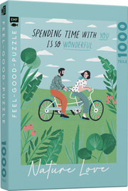 Feel-good-Puzzle 1000 Teile -NATURE LOVE: Spending time with you is so wonderful