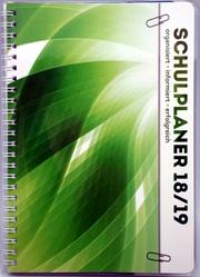 Schulplaner 2018/2019 Schülerplaner Schülerkalender GRÜN - Cover