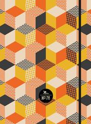 Notizbuch No. 76 - Orange Cubes