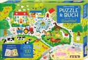 Puzzle & Buch: Auf dem Bauernhof