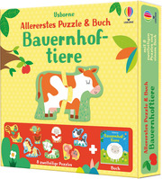 Allererstes Puzzle & Buch: Bauernhoftiere