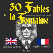 30 Fables of La Fontaine, bilingual edition, english french - Cover