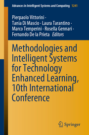 Methodologies and Intelligent Systems for Technology Enhanced Learning, 10th International Conference