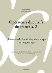 Opérateurs discursifs du français, 2