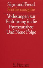 Vorlesungen zur Einführung in die Psychoanalyse/Und Neue Folge - Cover