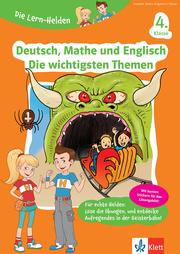 Klett Die Lern-Helden Deutsch, Mathe und Englisch - Die wichtigsten Themen 4. Klasse - Cover