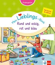 Klett Mein Lieblings-Block Rund und eckig, rot und blau - Cover