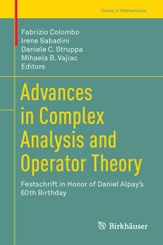 Advances in Complex Analysis and Operator Theory - Cover