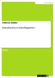 Introduction to Interlinguistics