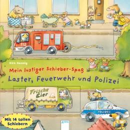 Laster, Feuerwehr und Polizei