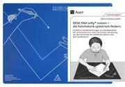 Schreibtisch-Auflage für Linkshänder DESK-PAD LEFTY, mit Übungsheft - Cover