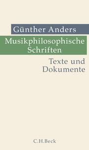 Musikphilosophische Schriften