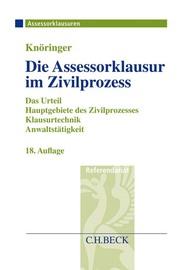 Die Assessorklausur im Zivilprozess