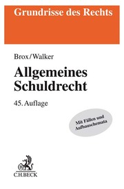 Allgemeines Schuldrecht - Cover