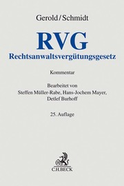 Rechtsanwaltsvergütungsgesetz/RVG - Cover