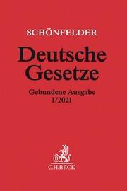 Deutsche Gesetze Gebundene Ausgabe I/2021 - Cover