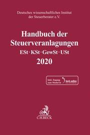 Handbuch der Steuerveranlagungen 2020 - Cover