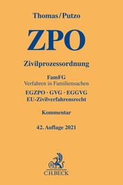 Zivilprozessordnung/ZPO - Cover