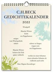 C.H. Beck Gedichtekalender 2022 - Cover