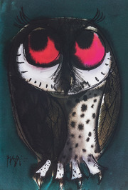 Piatti Postkarte Eule mit großen Augen VE 1=10