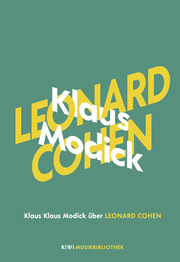 Klaus Modick über Leonard Cohen - Cover