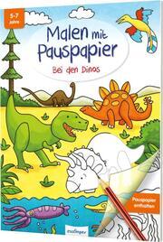 Malen mit Pauspapier: Bei den Dinos